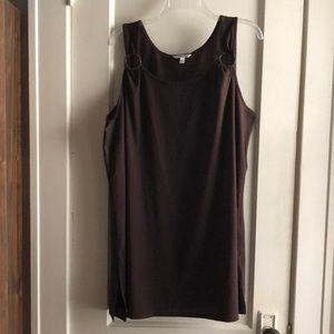 Croft&Barrow Brown Swim Cover Up Dress